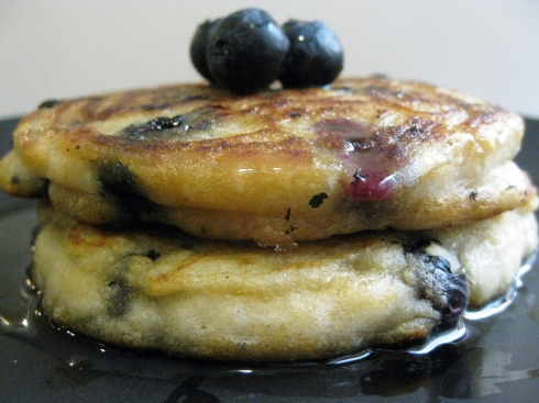 Fluffy, Melt-In-Your-Mouth Blueberry Coconut Pancakes
