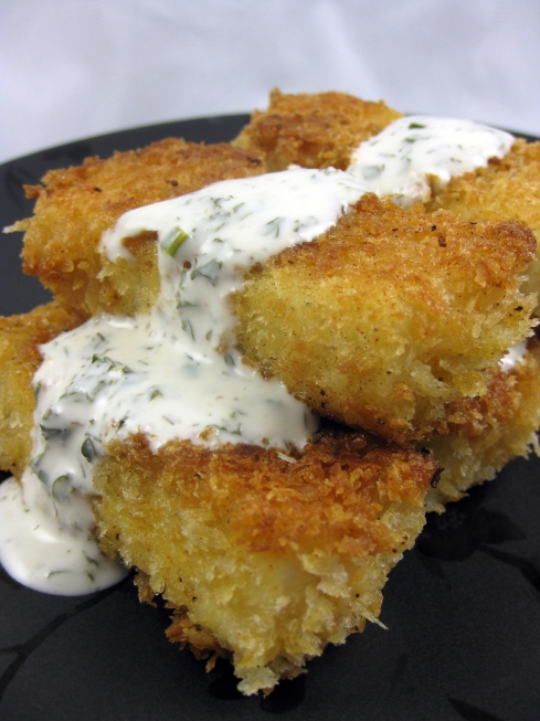 Beer-Battered Tofu Sticks with Ranch Dressing