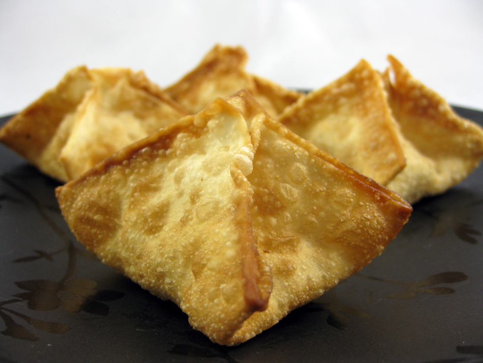 """Restaurant-Style """"Crab"""" Rangoon with Sweet and Sour Sauce"""