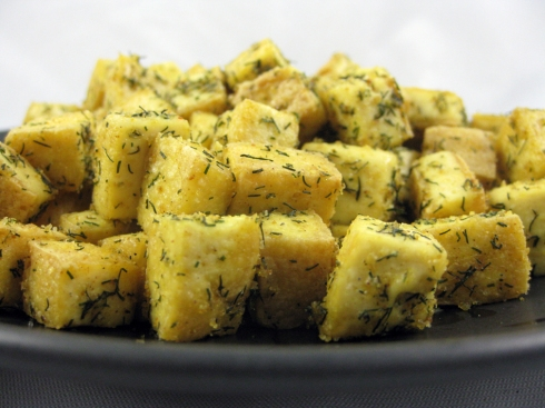 Curry Seasoned Tofu Bites