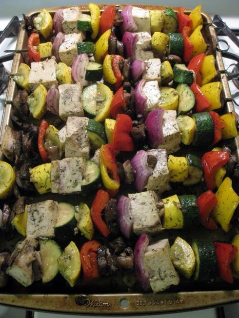 Smoky Baked Vegetable Kabobs