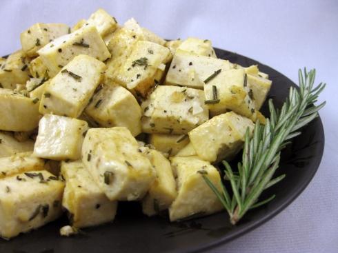 Garlic and Rosemary Tofu Bites