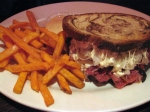 The Radical Reuben™ with Sweet Potato Fries