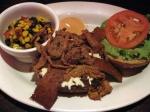 Titanic BLT Burger with Black Bean & Corn Salsa