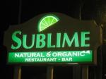 Sublime Restaurant Sign