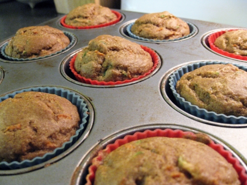 Whole Wheat Carrot Zucchini Muffins