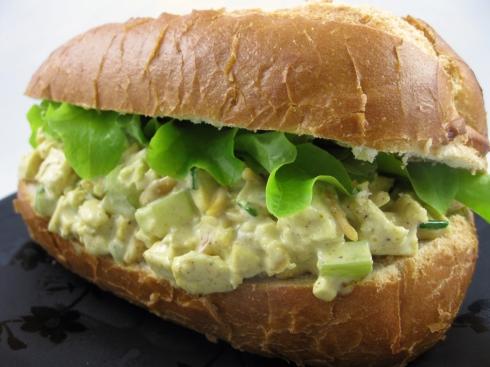 """Curried """"Chicken"""" Salad Sandwich"""