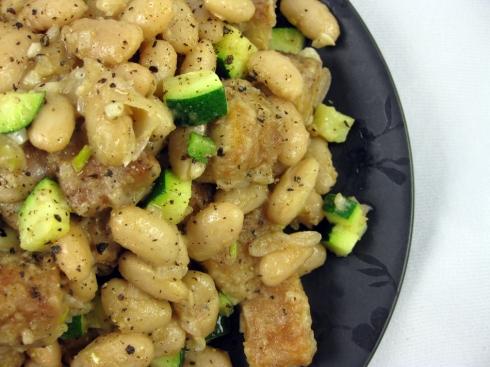 Tempeh, White Bean & Zucchini Ragout