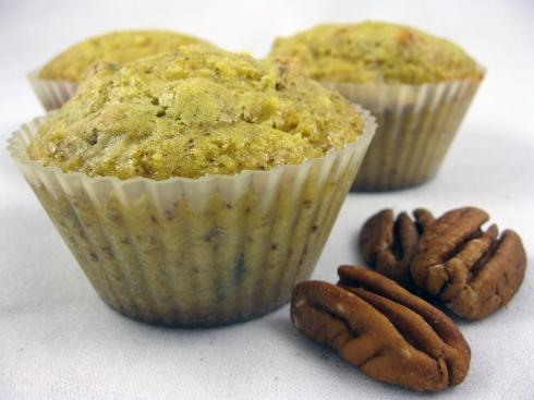 Orange Clove Pecan Muffins