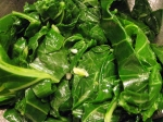 Collards with Almonds