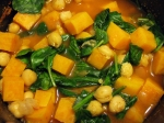 Red Curry Chickpea and Sweet Potato Soup