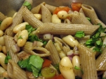 Summer Pasta and Bean Salad with Fresh Tomatoes and Basil