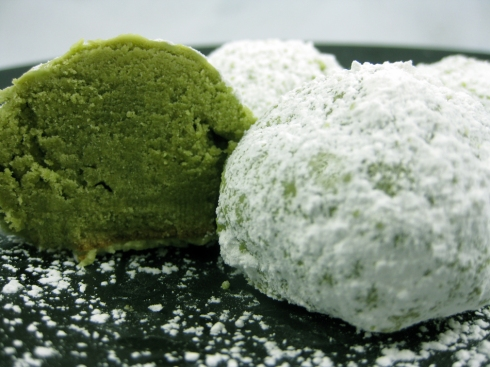 Green Tea Coconut Cookies