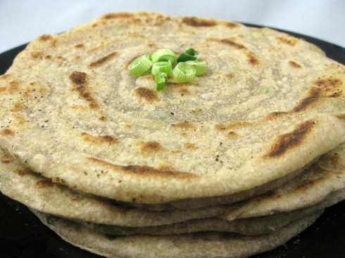 Flaky Green Onion Parathas