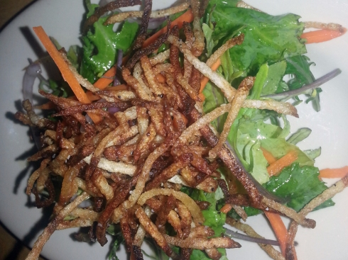 Baby Kale & Crispy Potatoes Salad from Local Harvest Cafe