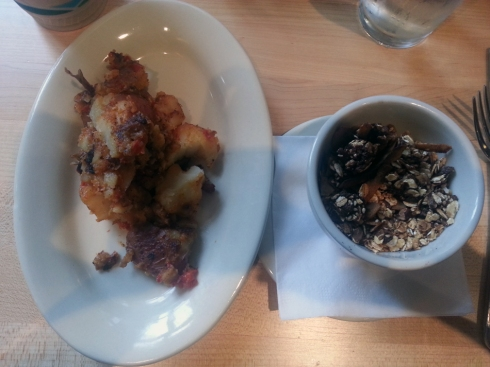 Potato Hash & Coconut Granola from Local Harvest Cafe