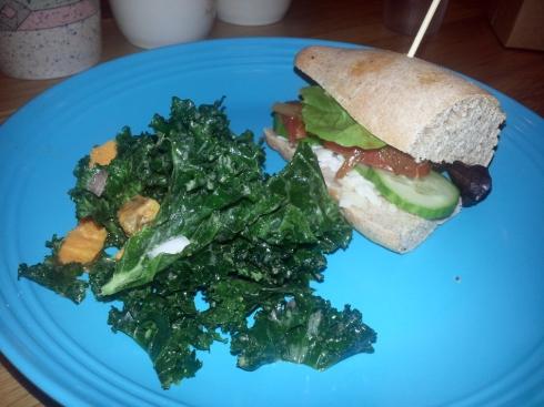 Queen Kale Salad & Jewel Sandwich from Sweet Art