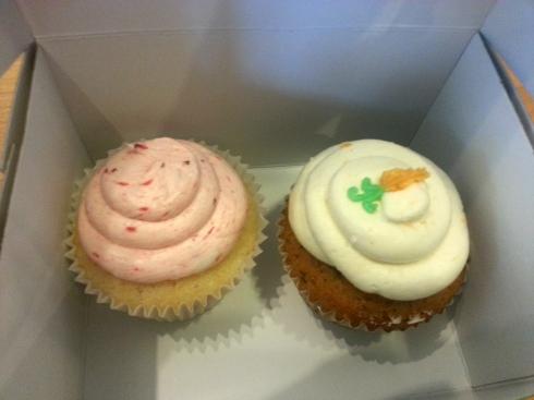 Strawberry Lemonade & Carrot Cake Cupcakes from Sweet Art