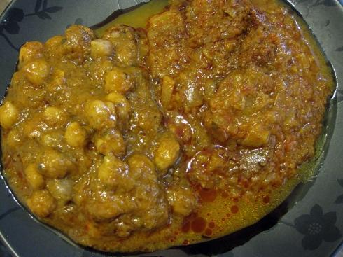 Channa Masala & Punjab Eggplant