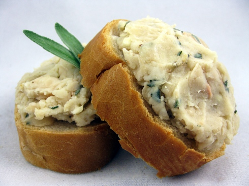 White Bean and Sage Crostini