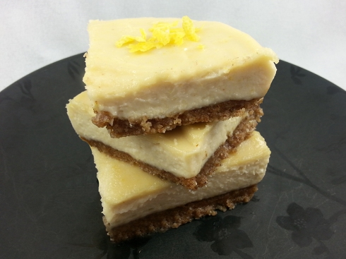 Nearly Raw Lemon Cheesecake Bars