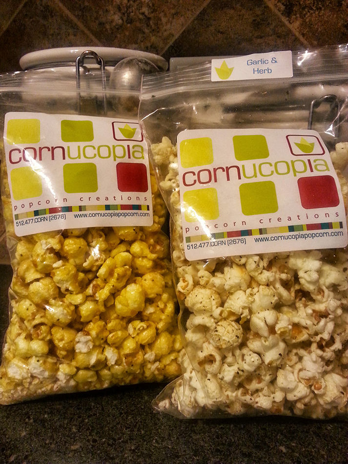 Lemon Poppyseed & Garlic and Herb Popcorn from Cornucopia Popcorn ...