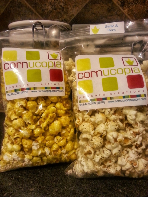 Lemon Poppyseed & Garlic and Herb Popcorn from Cornucopia Popcorn Creations