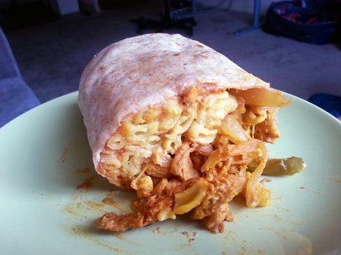 Macnocheeto Burrito from Homegrown Smoker Vegan BBQ