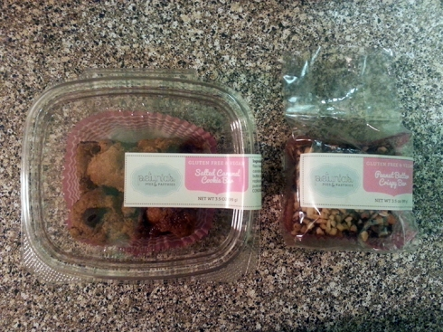 Salted Caramel Cookie Bar & Peanut Butter Crispy Bar from Petunias Pies & Pastries