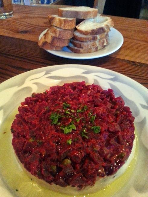 Beet Tartare from Portobello Vegan Trattoria