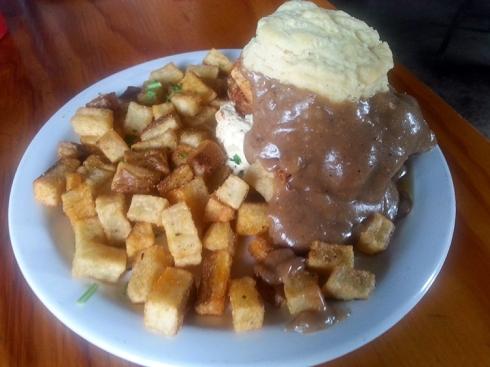 Sloppy Biscuit Sandwich from Vita Cafe