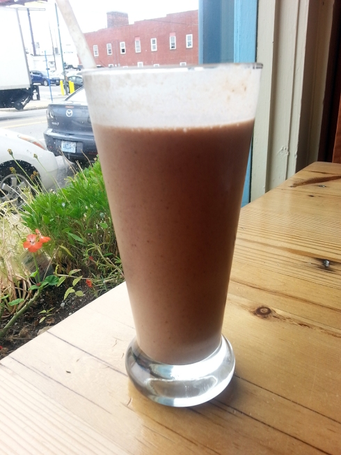 Incredible smoothie from Café Gratitude