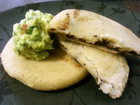 Black Bean & Sweet Corn Pupusas with Guacamole