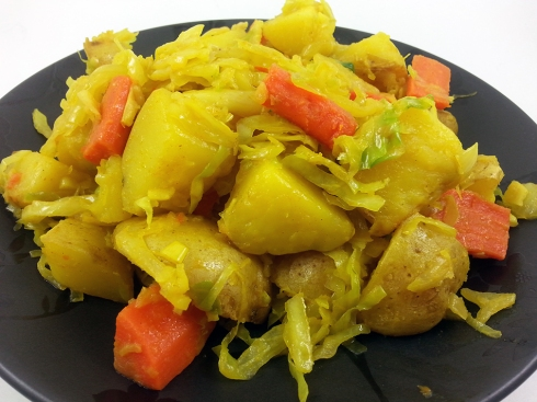 Tikil Gomen (Ethiopian Cabbage and Potatoes)